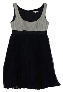 Nanette Lepore short dress Black White Striped Pleated on Tradesy