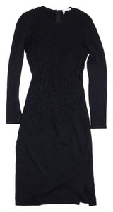 Derek Lam short dress Black Wool Long Sleeve on Tradesy