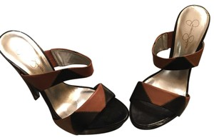 Jessica Simpson Black and tan Platforms