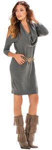 Boston Proper short dress heather gray on Tradesy