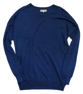 Reiss Blue Knit Long Sleeve Sweater