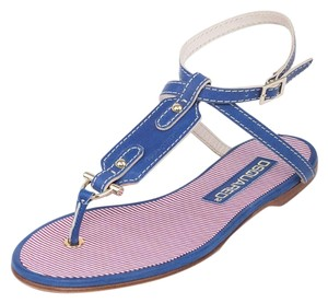 Dsquared2 2 Espadrilles Summer Thong Blue Sandals