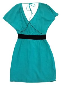 Tracy Reese short dress Aqua Silk Short Sleeve on Tradesy