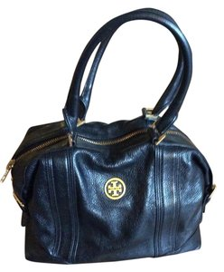 Tory Burch Leather Ally Satchel in Black