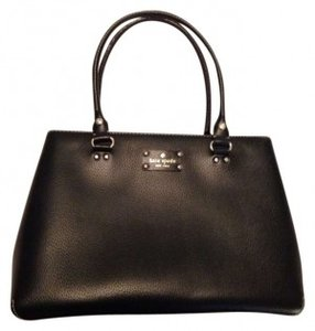 Kate Spade Leather Leather Tote in Black