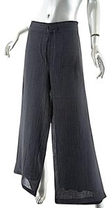 Crea Concept Linen Drawstring Straight Pants Heather Grey