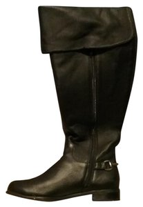Anne Klein Leather Black Boots
