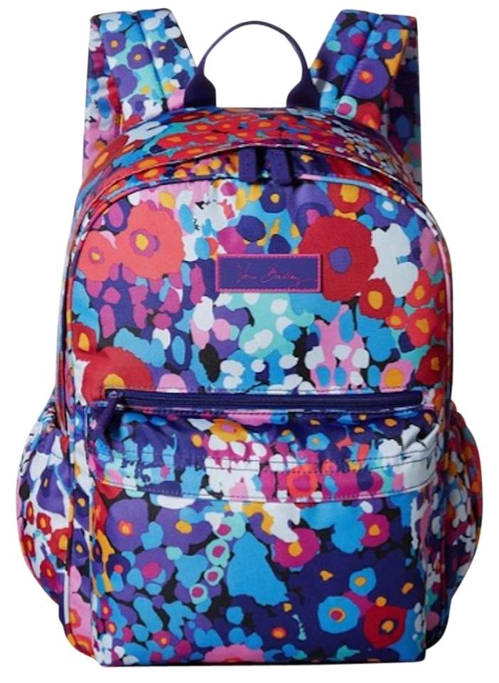 a3e420b4ef Vera Bradley New Limited Edition Lighten Up Just Right Impressionista  Printed Polyester Backpack
