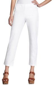 Eileen Fisher Stretch Cotton Ankle Cropped Capri/Cropped Pants White