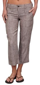 Toad&Co Linen Casual Capri/Cropped Pants Brown