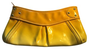 Maxx New York Patent Handbag Yellow Clutch