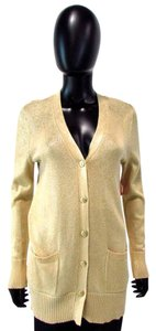 Chico's Shimmer Button Down Sweater V Neck Cardigan