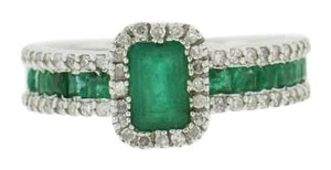 EFFY Emerald Diamond Ring, 14k White Gold Effy Emerald Diamond Jewelry,