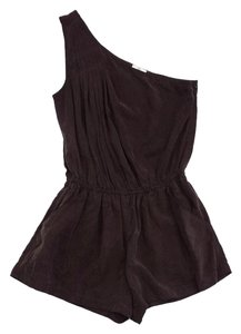 Joie Brown One Shoulder Romper Dress