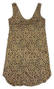 Tucker Tan Black Spotted Silk Dress Top