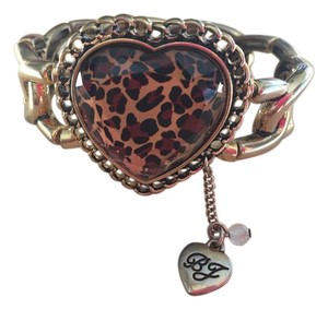 Betsey Johnson Animal Print Heart Bracelet