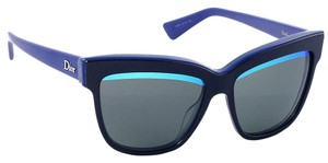 Dior Dior DiorGraphic 3883N Black/Blue Square Mirrored Women Sunglasses