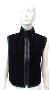 Etcetra Reversible Leather Vest