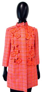 James Perse 3/4 Sleeve Floral Checkered Long Multi Jacket