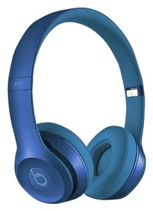 Apple New Beats Solo2 Wired On-Ear Headphones - Sapphire Blue