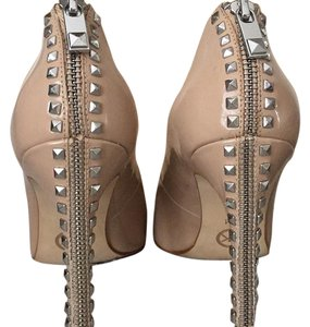 MICHAEL Michael Kors Nude with Silver Hardware Pumps
