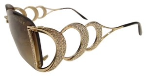 Caviar Eyewear CAVIAR 6844 SUNGLASSES RIMLESS GOLD (C21) CRYSTAL STONES NEW