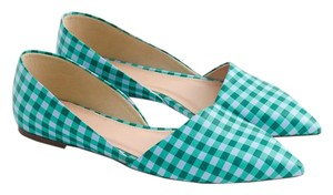 J.Crew Green and White Flats