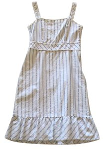 Ann Taylor LOFT short dress White & Blue Stripes on Tradesy