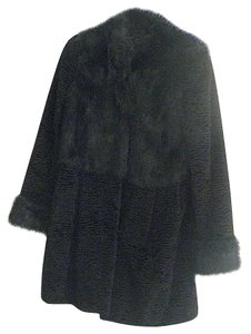 Fabulous Furs Faux Fur Boucle Fur Coat