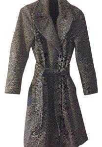 Sisley Wool Belted Trench Coat