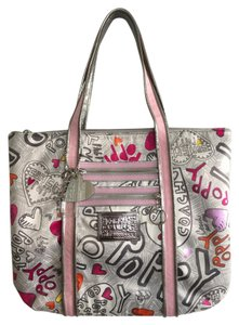 Coach Tote in Grey/Pink