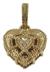 Judith Ripka Judith Ripka 14K Yellow Gold Pave Diamond Heart Enhancer