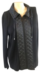 Chico's Sweater Quilted Black Jacket
