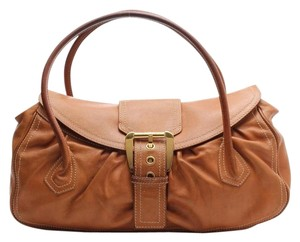 Céline Leather Ce 00/14 Double Handles Shoulder Bag