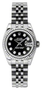 Rolex Rolex Datejust Steel and White Gold Black Diamond Dial 26mm