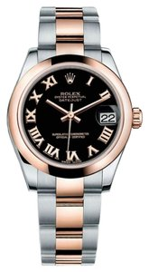 Rolex Rolex Datejust Steel and Rose Gold Black Roman Dial 31mm 178241 BKRO