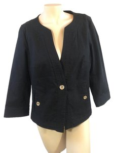 Talbots 1 Button Black Jacket