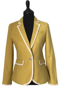 Banana Republic Mustard with ivory trim Blazer