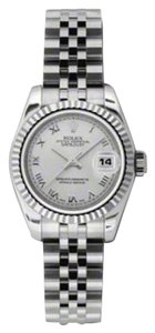 Rolex Rolex Datejust Steel and White Gold Silver Roman Dial 26mm 179174 SRJ
