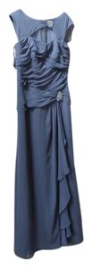 Alfred Angelo Charcoal 9020 Formal Bridesmaid/Mob Dress Size 12 (L)