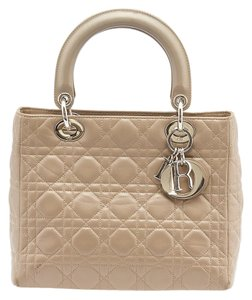 Dior Vintage Lady Cannage Tote in Grey