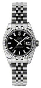 Rolex Rolex Datejust Steel and White Gold Black Stick Dial 26mm 179174 BKSJ