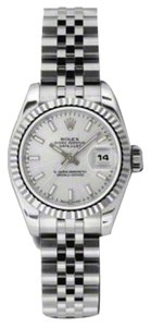 Rolex Rolex Datejust Steel and White Gold Silver Stick Dial 26mm 179174 SSJ