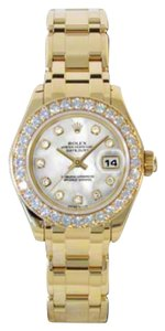 Rolex Pre-Owned Datejust Pearlmaster Mother of Pearl Diamond Dial