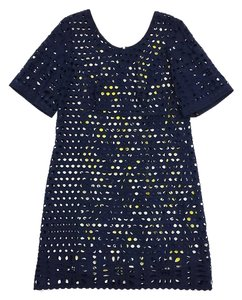 Anna Sui short dress Navy Cotton Eyelet on Tradesy