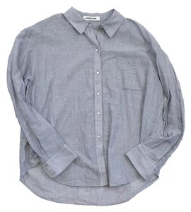 Elizabeth and James Blue Cotton Shirt Button Down Shirt