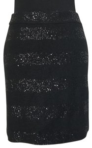Ann Taylor Skirt Black with black sequins