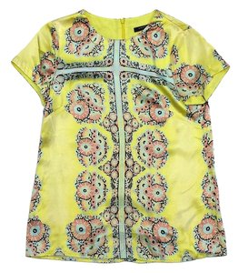 Nanette Lepore Yellow Floral Short Sleeve Top