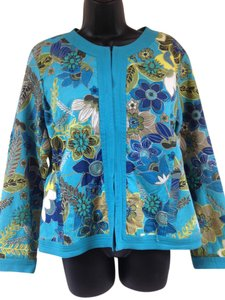 Chico's deep teal, blue, green Jacket