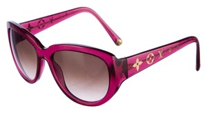Louis Vuitton Magenta glittered Louis Vuitton Obsession LV logo sunglasses
